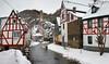 Monreal in der Eifel (oblakkurt) Tags: monreal winter fachwerkhäuser bach schnee eifel
