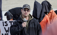 James Yee Speaks at an Anti-Torture Rally on the 15th Anniversary of Guantánamo's Opening (Shrieking Tree) Tags: guantanamo bagram kandahar blacksites indefinitedetention cia torture protest vigil detainee gitmo gtmo murder waterboarding donaldtrump demonstration abughraib humanrights boilersuit abuse humiliation america usa witness against