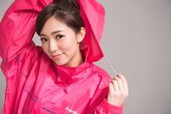 Raincoat (betrenchcoated) Tags: raincoat regenmantel nylon pink beautifulgirl hooded hood shiny