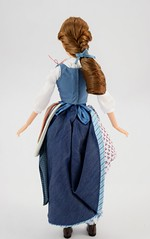 Film Collection Belle and Gaston Doll Set - Live Action Beauty and the Beast - Disney Store Purchase - Deboxing - Belle Deboxed - Free Standing - Full Rear View (drj1828) Tags: us disneystore beautyandthebeast liveactionfilm 2017 belle disneyfilmcollection 12inch posable dollset blue peasant dress deboxed freestanding