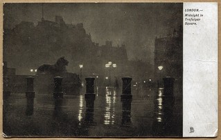 London - Midnight in Trafalgar Square (1908)