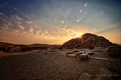 Dawn Of Civilization  ... 4,700 Years ... Sakkara Pyramids (Hazem Hafez) Tags: egypt sakkara brokenpyramid 4700years heritage history sun sky desert cairo