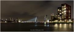 """Bridging the gap"", Rotterdam Netherlands (CvK Photography) Tags: bridge canon city cityscape color cvk erasmusbridge europe netherlands night rotterdam skyline southholland winter bridgebynight rotterdamnetherlands chrisvankan ngc"