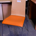 Orange beech chair