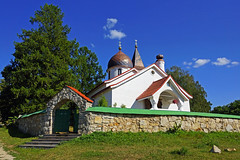 Pitcuresque little church in Bekhovo, Polenovo, Russia