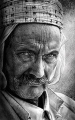 HARD LOOK (salem bouchakour) Tags: portrait black white bedouin