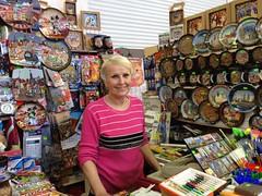 Seller posing for me, Central Market Riga (Julie70 Joyoflife) Tags: voyage travel woman smiling june europe posing latvia seller riga centralmarket discoveries 2015 photojuliekertesz découverts travalphotography