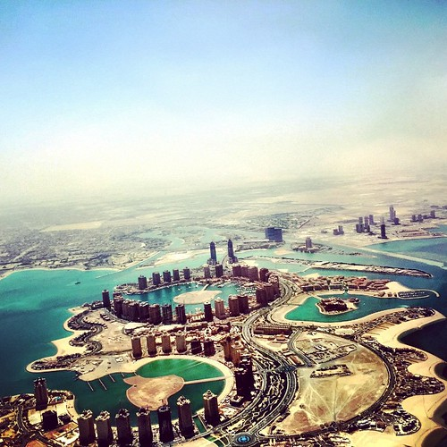 Flying over the Pearl #Doha