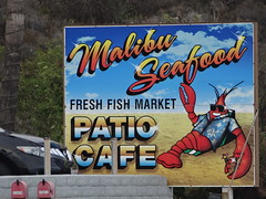 Malibu Seafood (francesca.clemente) Tags: creepy boat malibu sand losangeles cat beach seafood pacificcoasthighway pch junegloom francescaclemente francesca clemente burrito foodtruck food electronics taco travel trip green europe asia america holiday bike art architecture nature city landscape sea italy sky cats