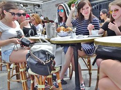 2015-06-14  Paris - Berges Rive Gauche - Pont Alexandre III  - Caf Faust (P.K. - Paris) Tags: street people paris caf june french juin terrace candid terrasse sidewalk 2015