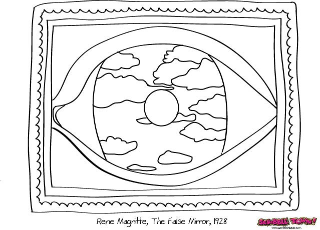 rene magritte coloring pages - photo#9