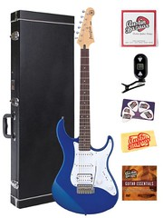 Yamaha PAC012 Pacifica HSS Double Cutaway Electric Guitar with Tremolo Bundle with Hardshell Case, Tuner, Instructional DVD, Strings, Pick Card, and Polishing Cloth - Blue (http://bestacousticguitarusa.com Guitar Reviews) Tags: blue electric guitar case double card yamaha strings tuner cloth pick bundle pacifica polishing tremolo cutaway instructional hardshell pac012