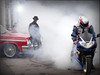 Staying Cool when everyone around you is losing theirs! [Explored] (The Stig 2009) Tags: red london cafe cool o ace convertible tony dude burnout impala 2009 stig sportsbike 2015 thestig tonyo thestig2009