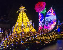 World of Color -Belle (Kevin MG) Tags: usa anaheim orangecounty dlr disney disneyland parade lights california color colors