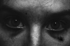 coal (victoria.margarita) Tags: portrait urban white black self eyes pollution tired coal desaturación