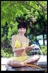 nEO_IMG_DP1U3250 (c0466art) Tags: school light portrait cute water girl yellow female canon high energy asia play outdoor good gorgeous young taiwan bikini figure lovely charming activity nima 1dx c0466art