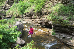 Crossing Devil's Fork Creek (GlobalGoebel) Tags: southdakota creek drive stream crossing unitedstates hiking south devils scenic fork canyon hike devil bathtub hiker lead dakota iphone fording spearfish scenicbyway iphone6