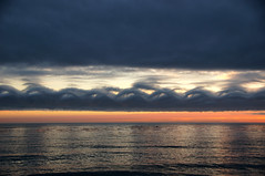 They Came Flying In From The West (nedlugr) Tags: california ca sunset clouds amazing pacificocean westcoast cambria omot kelvinhelmholtzclouds