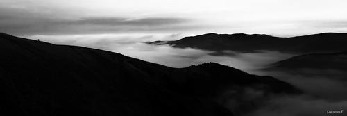 La mer de nuage obscurcit l'alsace