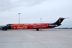 F-GMLU  MD-83 (n707pm) Tags: fgmlu mn83 mcdonnelldouglas airport airline airplane aircraft collinstown dub eidw ireland 04042010 cn49398 dublinairport fifa fifaworldcup cocacola trophyworldcuo blueline dub45apr10