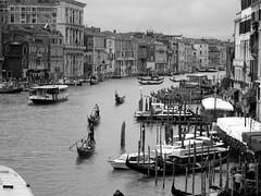 The Grand canal (VonHodes) Tags: venice italy grand canal gondola water taxi venizia italia venetian lagoon veniti boats adriatic sea europe istrian limestone piling architecture