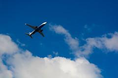 Samolët (alexwinger) Tags: plane blue sky south travel clouds white takeoff nikon d5200 flight bye