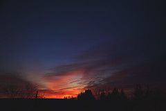 soul searching (viewsfromthe519) Tags: morning dawn sunrise blue hour orange yellow pink purple magenta silhouette sky clouds skyscape stthomas ontario canada golden