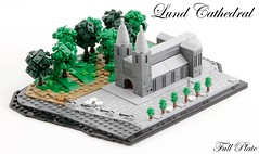 Lund Cathedral (3 of 3) (Emil Lidé) Tags: lego moc lund cathedral microscale tree church