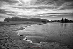 Poetto beach in a winter day (Fabrizio Contu) Tags: sardegna cagliari poetto spiaggia beach mare sea mareggiata seastorm inverno winter blackandwhite bn fujifilmxt10 fujinonxf1855