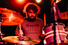 Dariush of Delphinium (ianiks) Tags: math rock color concert live photo photography performance portrait art artist beard cool guy drums drummer delphinium noise ambient lofi space red lights lighting