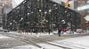 Snowy Fulton Center (20170107-P1072287) (Michael.Lee.Pics.NYC) Tags: newyork fultoncenter snow winter 2017 broadway street intersection flash architecture tranportation olympus em5 markii mkii 1240mmpro28