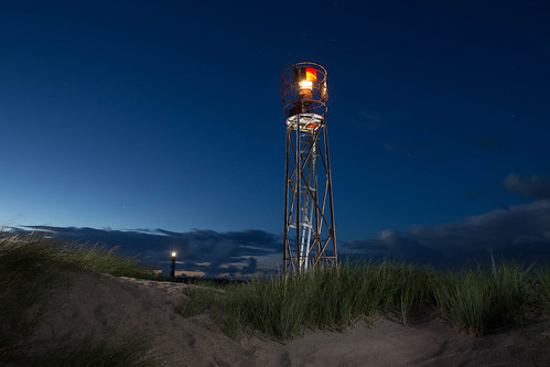 At night in the dunes