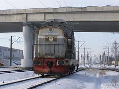 92 53 0 810419-7 intrand in Ploiesti Vest (rares_eduard) Tags: ploiesti vest 419 ldh snow zapada pod stalp locomotiva disel
