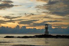 Lighthouse in KhaoLak (Den mrt) Tags: маяк sea sunset clouds khaolak lighthouse trevel аdventure приключения отдых заповедник reserve