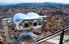 View from Florence Cathedral (Mark Wordy) Tags: florencecathedral florence italy cattedraledisantamariadelfiore cathed view finder rooftops binoculas duomo firenze