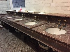 Posh hand basins (Matt From London) Tags: johnwesley wesleyshouse methodism sinks basins washroom marble