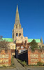 Chichester Cathedral, West Sussex (baldychops) Tags: chichester cathedral chichestercathedral church spire worship religion christian old history historic westsussex england outdoor winter bluesky sun sunshine cold architecture building