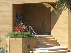 The front door to the house with the tram down to the cliff base, circular ocean observation room. (aking1) Tags: sandiego california unitedstates