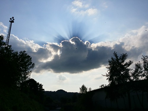 The sun is hiding ...