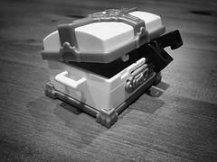 When adventure bites back (160/365) (robjvale) Tags: blackandwhite danger treasure lego chest adventure loot peril adventurerjoe