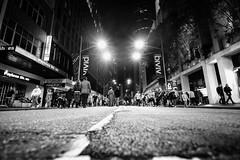 George St. Closed (Leighton Wallis) Tags: people festival lights sony sydney vivid australia nsw pedestrians newsouthwales cbd alpha georgestreet f40 1635mm mirrorless a7r emount ilce7r