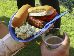 Frank and beer (US Department of State) Tags: food beer frank hotdog picnic sausage potatosalad july4th 4thofjuly july4 independenceday bun frankfurter 4july halfsmoke outddoor