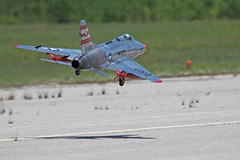 First in Flight RC Jet Rally 2015 North American F-100 Super Sabre (John. Romero) Tags: radio plane canon airplane photography fly flying photo nc airport control aircraft aviation air rally flight jet first hobby airshow planes carolina wilson remote tamron rc flyin