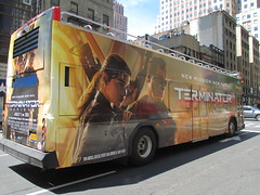 Terminator Genisys Double Decker Bus AD 4441 (Brechtbug) Tags: street new york city nyc fiction building bus st computer movie poster toy toys robot theater theatre mark ad science double billboard story ave killer future posters scifi animation billboards fi terminator avenue creature 8th android sci generated decker dystopia dystopian 55th 2015 standee wahlberg genisys 06132015