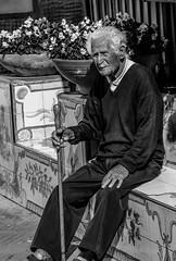 Man in Capri (Matteo Vanerio) Tags: street old travel portrait people bw italy white man black italia streetphotography uomo bianconero vecchio monocrome