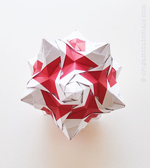 Rose Unit Kusudama (Judith Magen) Tags: origami kusudama tomokofuse rosekusudama roseunit