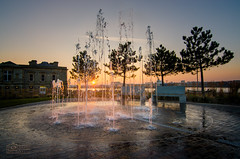 Sunset at the Customs House, South Shields (solidtext) Tags: sunset water fountain southshields customshouse rivertyne tynesunset