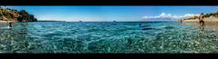 Konyaalt Zero, 1 July 2015 (Melissa Maples) Tags: cameraphone blue sea summer panorama mountains beach apple water clouds turkey asia mediterranean widescreen trkiye panoramic antalya letterbox iphone  iphone6 konyaaltzero