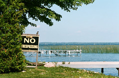 No Trespassing (Georgie_grrl) Tags: friends ontario sign docks private fun rebel photographers pentaxk1000 notrespassing lakesimcoe kingbird georginaisland takumar125135mm roooooadtrip topwannualcampingtrip