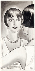 "Dixie Dugan ""Showgirl"" reflection, illustration by John Striebel, Liberty Magazine, 1928 (Tom Simpson) Tags: 1920s illustration vintage sketch showgirl flapper 1928 roaring20s dixiedugan johnstriebel"